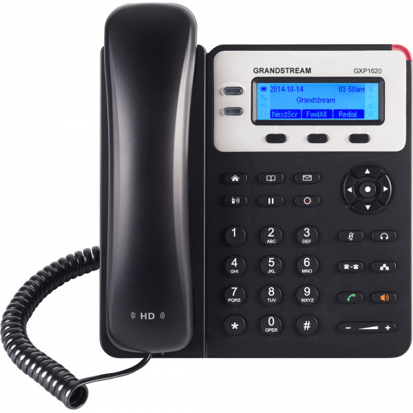Telefono IP - Grandstream GXP-1620, 2 líneas, LCD 132 X 48, RJ-45, Audio HD