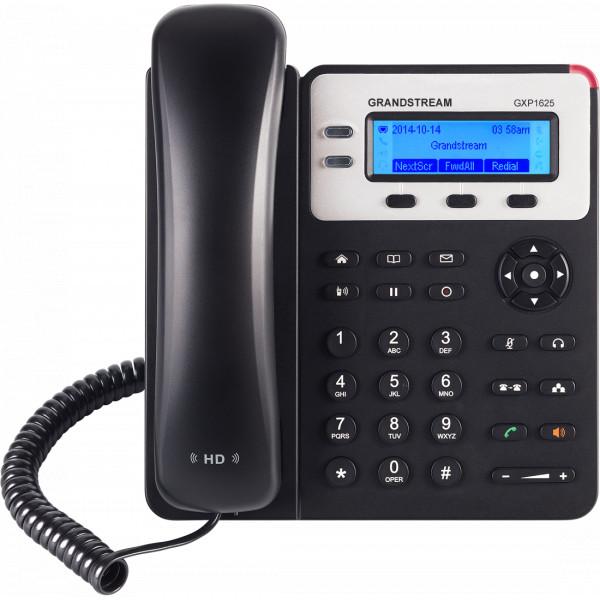 Telefono IP - Grandstream GXP-1625, 2 líneas, LCD 132X48, 8BLF, 10/100 Poe Integrado, Audio HD