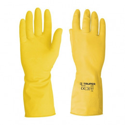Guantes de Latex puño largo, para limpieza Talla G, GU-LIM-GP 23260 Pretul