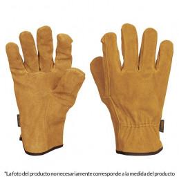 Guantes de Carnaza puño largo ajustado, para Construccion y manejo de abrasivos, GU-CACE 14240 Truper