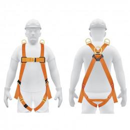 Arnes de Cuerpo completo 3 anillos Rescate y contra caidas, Cinta de 40mm, Carga 100kg, ARN-5437 14433 Truper