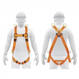 Arnes de Cuerpo completo 5 anillos Posicionamiento Rescate y contra caidas, Cinta de 40mm, Carga 100kg, ARN-5438 14434 Truper