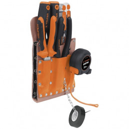 Portaherramientas 11 Compartimientos de Cuero 2.5mm con cinturon, POR-HE11 11514 Truper