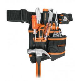 Portaherramientas 7 Compartimientos de Poliester 600 deniers Forro interno PVC con cinturon, PONY-7 15312 Truper