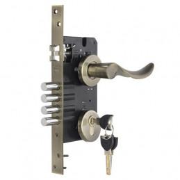 Cerradura de Embutir Forte Enigma 3G Onda DER Bronce Antiguo 3Golpes 4Pivotes