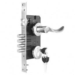 Cerradura de Embutir Forte Enigma 3G Onda DER Acero Inox 3Golpes 4Pivotes