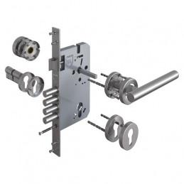 Cerradura de Embutir Forte Enigma 3G Cilindrica DER Acero Inox 3Golpes 4Pivotes
