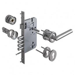 Cerradura de Embutir Forte Enigma 3G Estandar DER Acero Inox 3Golpes 4Pivotes