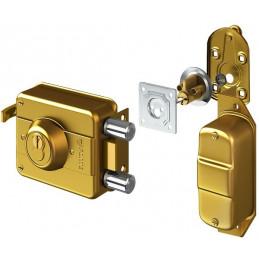 Cerradura Forte Blindada 940 Dorado 3Golpes 3Llaves 2Pivotes CSN Int-Ext Madera Metal