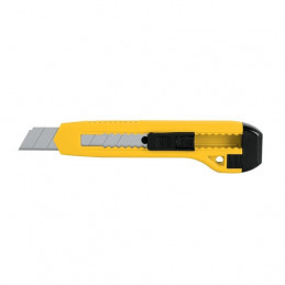 "Cutter Plastico Largo 6"" Ancho 18mm, Navaja de Acero, CUT-6P 22405 Pretul"