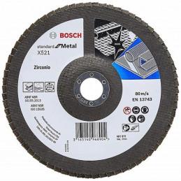 Disco Flap ECO Bosch 115mm Gr40 Curvo Fibra/Zirconio Inox/Metal 2608619288