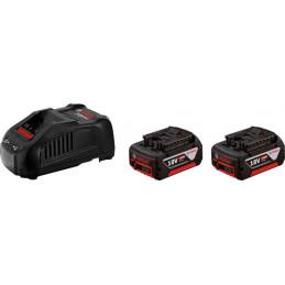 Bateria Li-Ion Bosch Kit 2 Baterias GBA 18V 3.0Ah + Cargador Rapido GAL 1880 CV - 1600A015TC