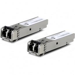 Módulo SFP Ufiber Ubiquiti UF-MM-1G 1Gbps MultiModo 2-Pack LC 1.25Gbps 550m