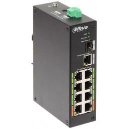 Switch Poe Dahua LR2110-8ET-120 8Puertos POE/802.3AF/AT/120W Epoe HASTA 800M