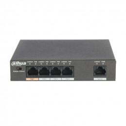 Swirch POE Dahua PFS3005-4ET-60 4Port L2 60W para PTZ