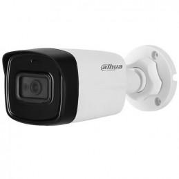 Camara Bullet Dahua HAC-HFW1200TH-I4-0280B-S4 2MP Lite FHD 1080P 4en1 2.8mm mic IP67 Plastico
