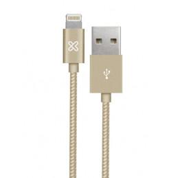 Cable Lightning Klip Xtreme KAC-020GD 2M Conector USB para Apple Gold