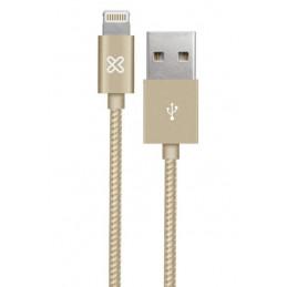 Cable Lightning Klip Xtreme KAC-010GD 1M Conector USB para Apple Gold
