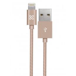 Cable Lightning Klip Xtreme KAC-001GR 0.5M Conector USB para Apple Rose Gold