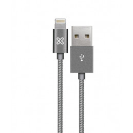 Cable Lightning Klip Xtreme KAC-001GR 0.5M Conector USB para Apple Gray