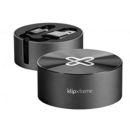 Cable USB Klip Xtreme KAC-110BK retractil USB-A a USB-C 2.1A 1M