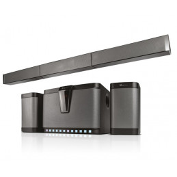 Sistema de parlantes de 5.1 Klip Xtreme KSB-500 300W Black silver con Bluetooth USB