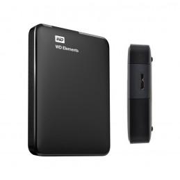 Disco duro externo Western Digital Elements Portable, 1TB, USB 3.0, negro