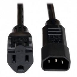Cable de alimentacion Tripp-Lite P002-002, conector IEC-320-C14 a NEMA 5-15