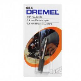 """Broca de Fresadora Dremel 654, 1/4"""" 6.4mm Recta Ruteado Fresado"""