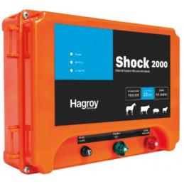 Cerco electrico Ganadero Hagroy Hagroy SHOCK 2000 Electrificador 20km 1.2J 12V IP55