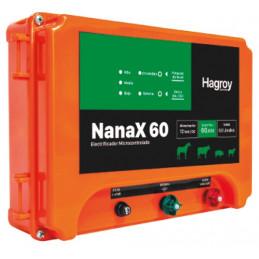 Cerco electrico Ganadero Hagroy Hagroy NANAX-60 Electrificador 60km 3Niveles 12VDC