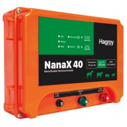 Cerco electrico Ganadero Hagroy NANAX-40 Electrificador 40km 3Niveles 12VDC