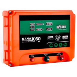 Cerco electrico Ganadero Hagroy NANAX-60D Electrificador 60km 3Niveles Dual 220V 12VDC