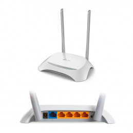 Router Ethernet Wireless TP-Link TL-WR840N, 300Mbps 2.4 GHz 802.11 b/g/n, 2 Antenas