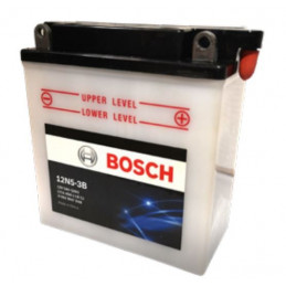 Bateria Motocicleta Bosch 5AH 12V 12N5-3B - + 40A BorneOreja 12x6x13cm