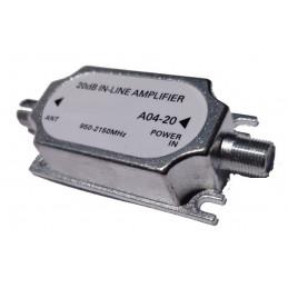 Amplificador de Señal A04-20 20dB 950-2150 MHz Cable Coaxial RG6 F