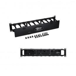 Organizador de Cables Horizontal Tripp-Lite SRCABLEDUCT2UHD, 2U, Alta Capacidad