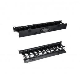 Administrador de Cables Horizontal Tripp-Lite SRCABLEDUCT1UHD de 1U de alta capacidad