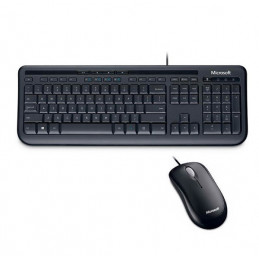 Kit Teclado y Mouse Microsoft Wired 600, USB, Negro