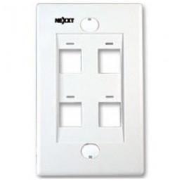 Placa de Montaje Nexxt AW160NXT04 4Puertos keystone Blanco