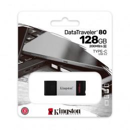 Memoria Flash USB Kingston DataTraveler 80, 128GB USB-C 3.2 Gen1