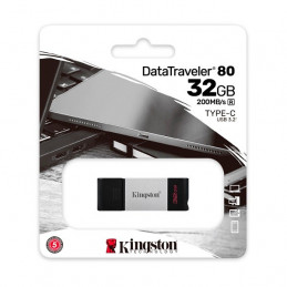 Memoria Flash USB Kingston DataTraveler 80, 32GB, USB-C 3.2 Gen1