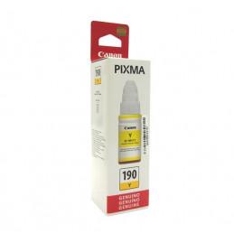 Botella de tinta Canon GI-190 Y, amarillo.