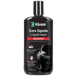 Cera Liquida Liquid Wax 473ml, Silicona Mayor Brillo y proteccion UV, EA-32 57089 Klintek
