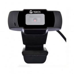 Camara web Teros TE-9060, hasta 720p, microfono incorporado, USB 2.0