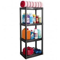 Estante Plastico uso Pesado, 4 Repisas Ventiladas, Soporta 27kg por Revisa 108kg por Estante, EST-4P 25075 Pretul