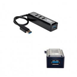 Hub USB Portatil Tripp-Lite U360-004-MINI, 4 Puertos USB 3.0 SuperSpeed, 5Gbps