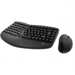 Kit Teclado Mouse Inalambrico Klip Xtreme KBK-510 Ergonomico 2.4GHz