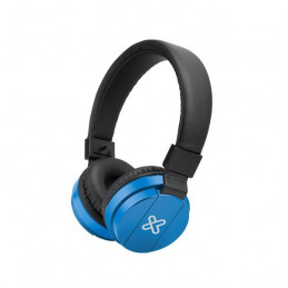 Auriculares On-ear Inalambrico Klip Xtreme KHS-620BL Fury con mic Azul