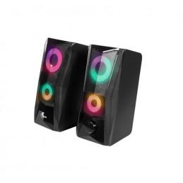 Parlante Xtech XTS-130 4w 3.5mm estereo multimedia de 2.0 canales con luces led